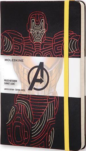 Moleskine Avengers Ruled Large Notebook - Iron Man