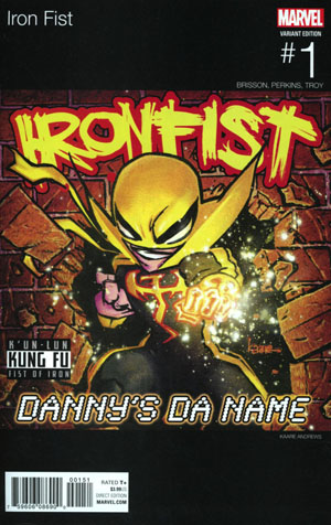 Iron Fist Vol 5 #1 Cover D Variant Kaare Andrews Marvel Hip-Hop Cover