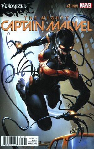 Mighty Captain Marvel #3 Cover B Variant Clayton Crain Venomized Cover