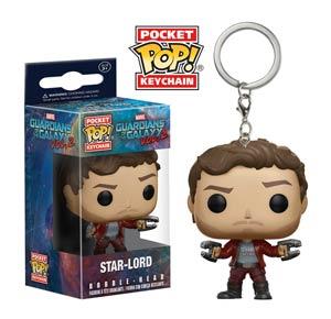 POP Guardians Of The Galaxy Vol 2 Star-Lord Vinyl Figure Pocket Keychain