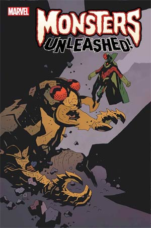Monsters Unleashed #1 Cover J Incentive Mike Mignola Classic Monster vs Marvel Hero Variant Cover