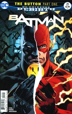 Batman Vol 3 #21 Cover B Variant Jason Fabok Non-Lenticular Cover (The Button Part 1)