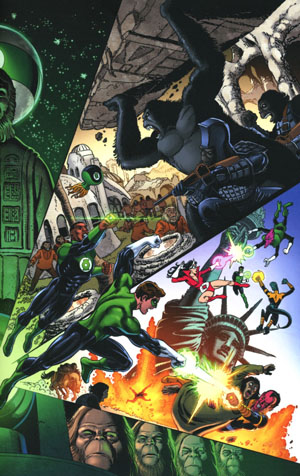 Planet Of The Apes Green Lantern #1 Cover C Variant George Perez & Jerry Ordway Cover
