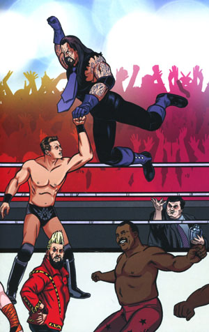 WWE #4 Cover C Variant Brent Schoonover Royal Rumble Connecting Cover
