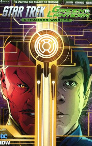 Star Trek Green Lantern Vol 2 Stranger Worlds #5 Cover A Regular Angel Hernandez Cover