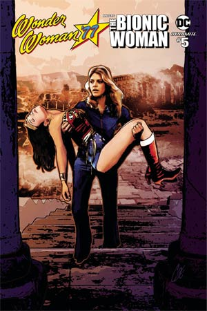 Wonder Woman 77 Meets The Bionic Woman #5 Cover A Regular Cat Staggs Cover