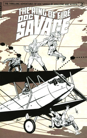 Doc Savage Ring Of Fire #2 Cover C Incentive Brent Schoonover Black & White Cover