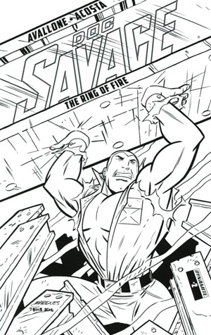 Doc Savage Ring Of Fire #2 Cover D Incentive Anthony Marques Black & White Cover