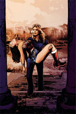 Wonder Woman 77 Meets The Bionic Woman #5 Cover C Incentive Cat Staggs Virgin Cover