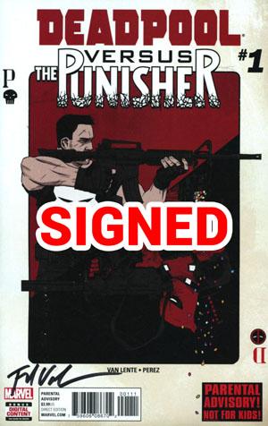 Deadpool vs Punisher #1 Cover F Regular Declan Shalvey Cover Signed By Fred Van Lente (Limit 1 Per Customer)