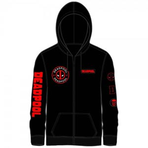Marvel Deadpool Multi Logo Zip-Up Hoodie Large