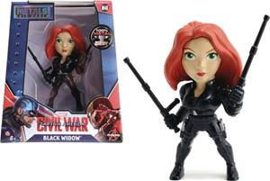 Metals Captain America Civil War 4-Inch Die-Cast Figure - Black Widow