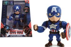 Metals Captain America Civil War 4-Inch Die-Cast Figure - Captain America
