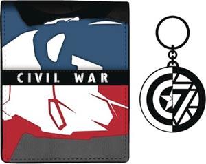 Marvel Captain America Civil War Captain America Wallet & Keychain