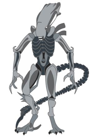 Alien Micro Morph Enamel Pin - Xenomorph