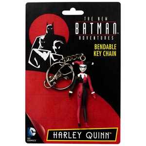 Batman The Animated Series Harley Quinn Bendable Figure Keychain