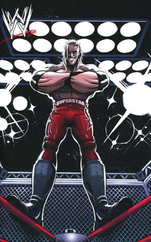 WWE #3 Cover E Incentive Dylan Burnett Then Edge Virgin Variant Cover