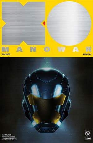 X-O Manowar Vol 4 #1 Cover F Metal Brushed Variant Cover