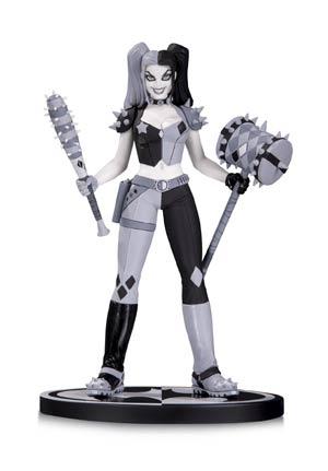 Batman Black & White Series Harley Quinn Mini Statue By Amanda Conner