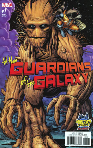 All-New Guardians Of The Galaxy #1 Cover B Midtown Exclusive Arthur Adams Variant Cover
