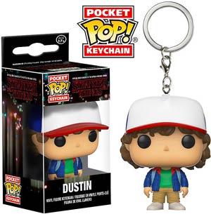 POP Stranger Things Dustin Vinyl Figure Pocket Keychain