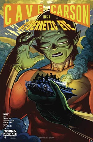 Cave Carson Has A Cybernetic Eye #10 Cover B Variant Benjamin Dewey Cover