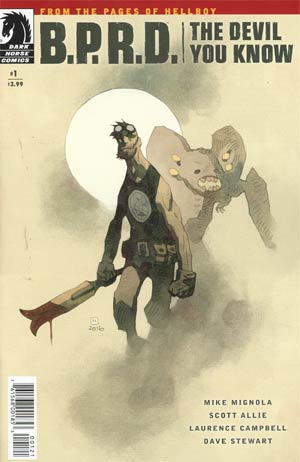 BPRD Devil You Know #1 Cover B Variant Mike Mignola Cover