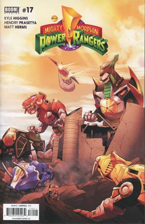 Mighty Morphin Power Rangers (BOOM Studios) #17 Cover A Regular Jamal Campbell Cover