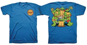 Teenage Mutant Ninja Turtles Front & Back Royal Blue T-Shirt Large