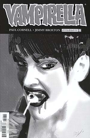 Vampirella Vol 7 #5 Cover G Incentive Jimmy Broxton Black & White Cover