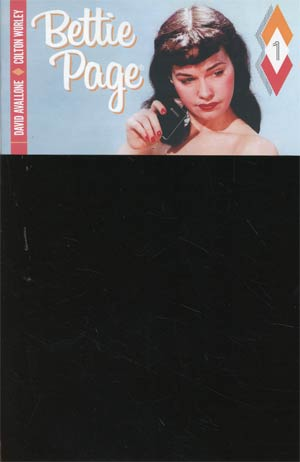 Bettie Page #1 Cover M Variant Photo Cover Black Bag Edition With Polybag