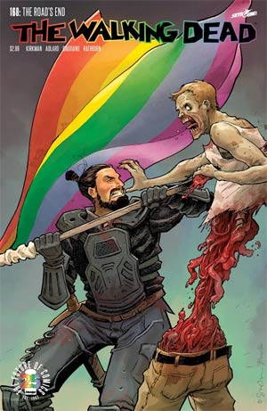 Walking Dead #168 Cover B Variant Sina Grace Pride Month Cover