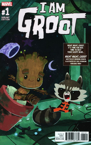 I Am Groot #1 Cover C Incentive Night Night Groot Variant Cover