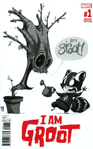I Am Groot #1 Cover F Incentive Skottie Young Baby Sketch Cover