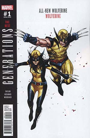 Generations Wolverine & All-New Wolverine #1 Cover B Variant Olivier Coipel Cover