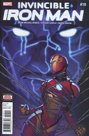 Invincible Iron Man Vol 3 #10 Cover A Regular Stefano Caselli Cover