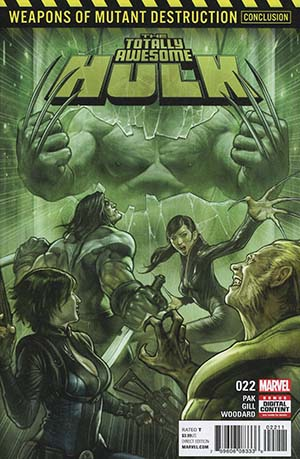 Totally Awesome Hulk #22 (Weapons Of Mutant Destruction Part 6)(Limit 1 Per Customer)