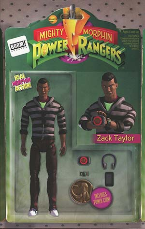 Mighty Morphin Power Rangers (BOOM Studios) #18 Cover B Variant Haskell Mackowski Action Figure Cover