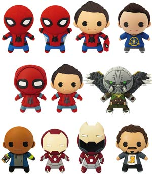 Spider-Man Homecoming Laser Cut Figural Keyring Blind Mystery Box