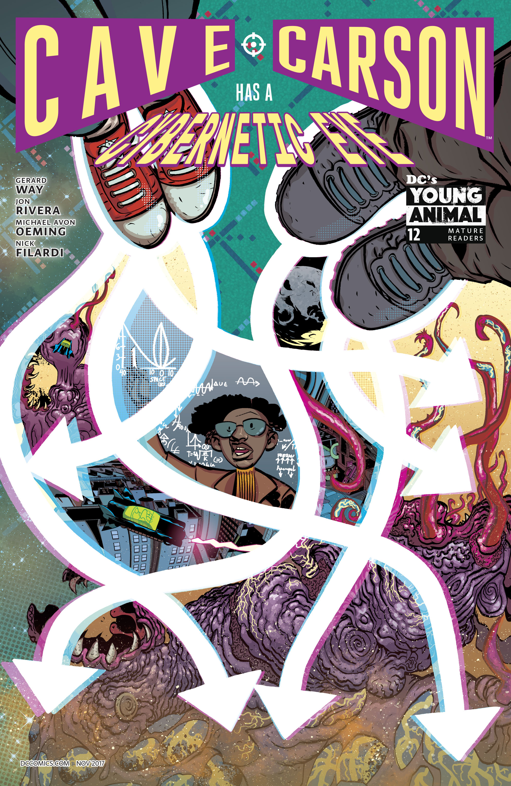 Cave Carson Has A Cybernetic Eye #12 Cover A Regular Michael Avon Oeming Cover