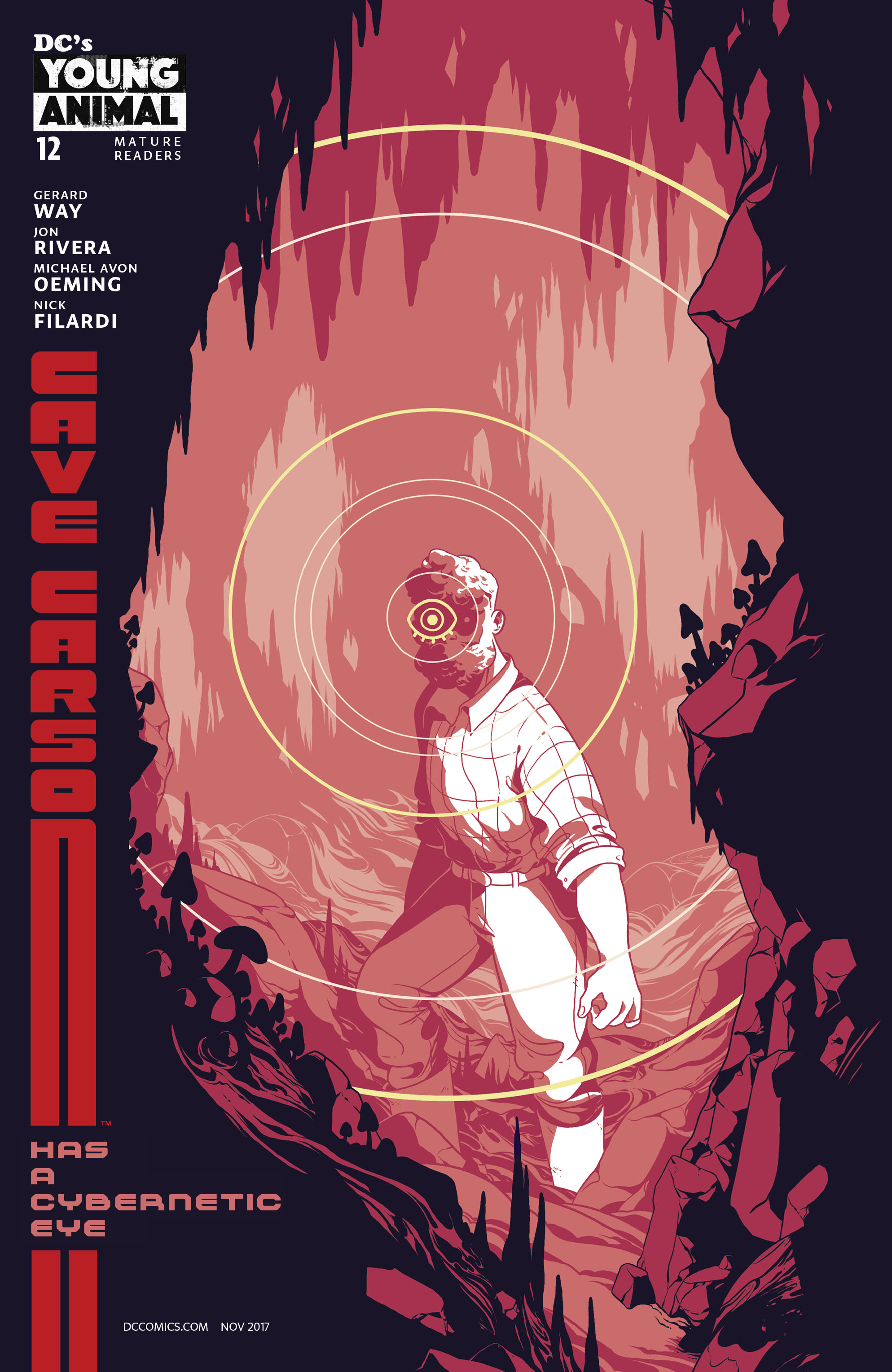 Cave Carson Has A Cybernetic Eye #12 Cover B Variant Rosemary Valero-Oconnell Mondo Cover