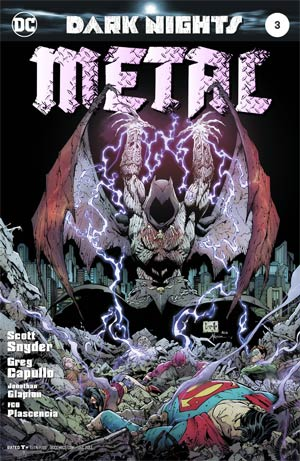 Dark Nights Metal #3 Cover A 1st Ptg Regular Greg Capullo & Jonathan Glapion Foil-Stamped Cover