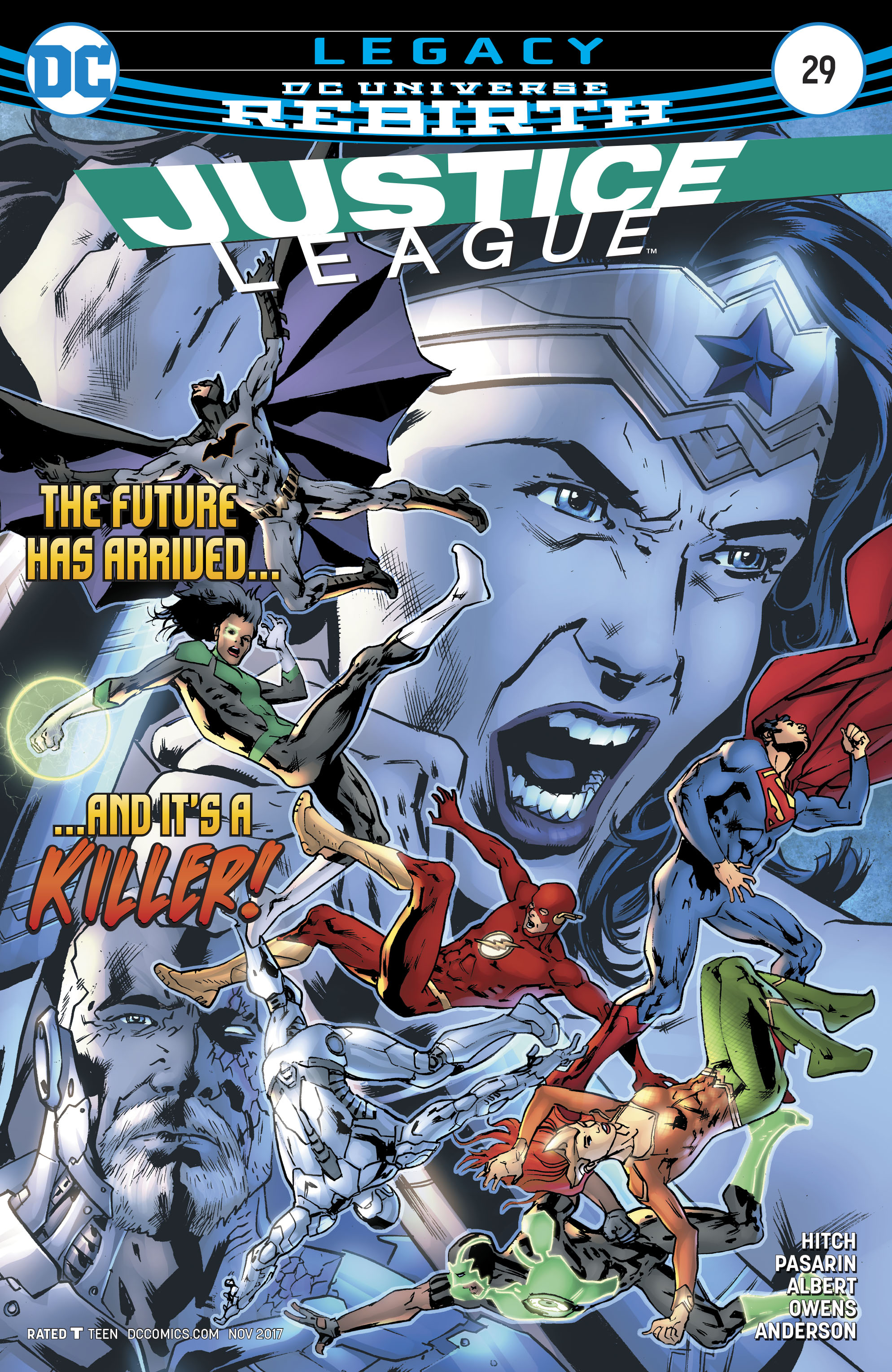 Justice League Vol 3 #29 Cover A Regular Bryan Hitch Cover