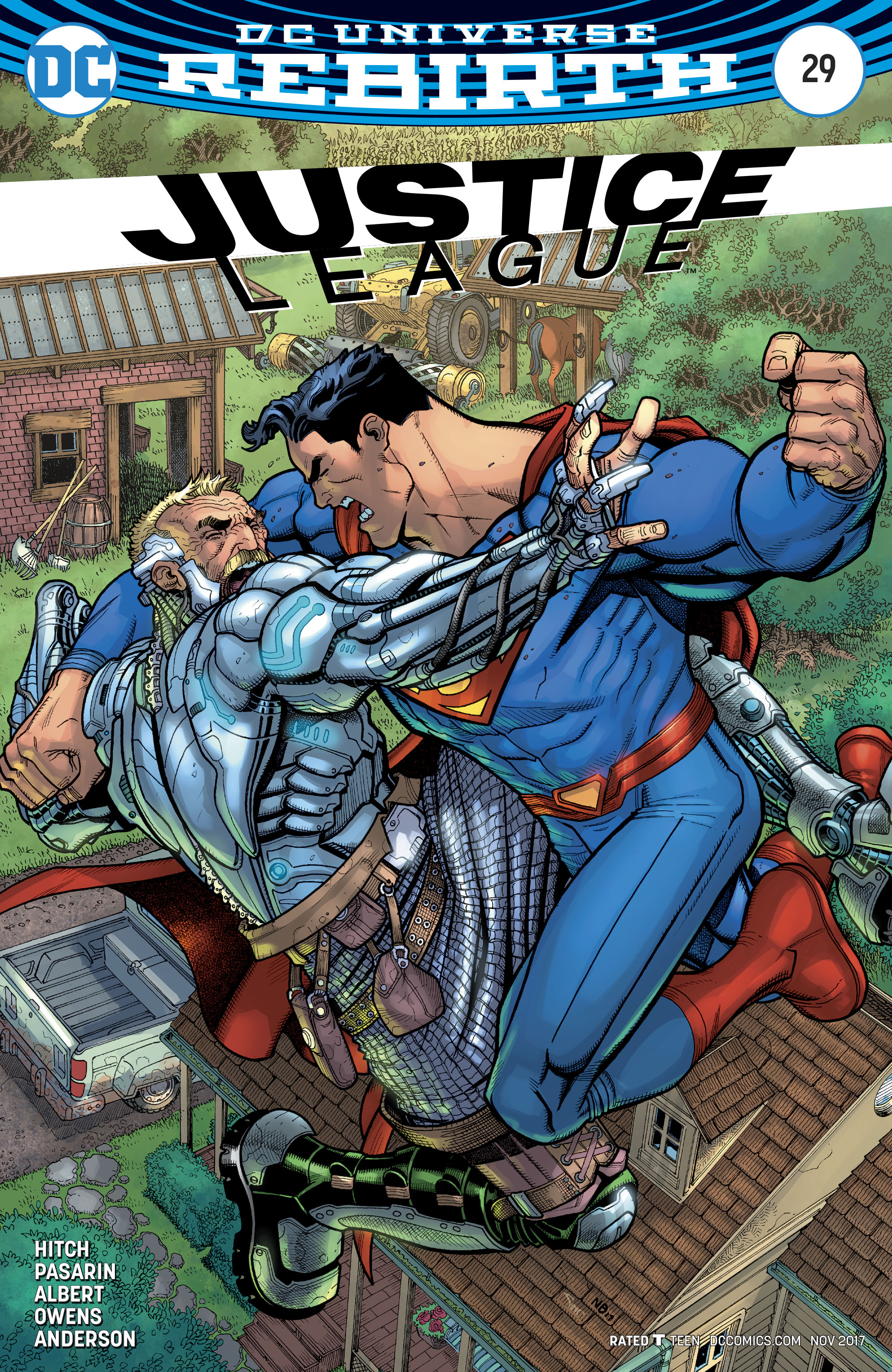 Justice League Vol 3 #29 Cover B Variant Nick Bradshaw Cover