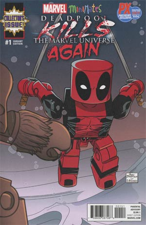 Deadpool Kills The Marvel Universe Again #1 Cover E SDCC 2017 Exclusive Barry Bradfield Minimates Variant Cover
