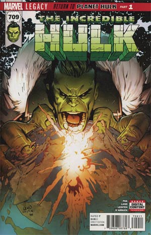 Incredible Hulk Vol 4 #709 Cover A Regular Greg Land Cover (Marvel Legacy Tie-In)