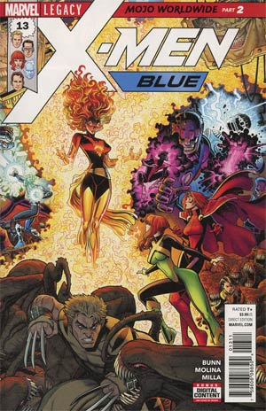 X-Men Blue #13 Cover A Regular Arthur Adams Connecting B Cover (Mojo Worldwide Part 2)(Marvel Legacy Tie-In)