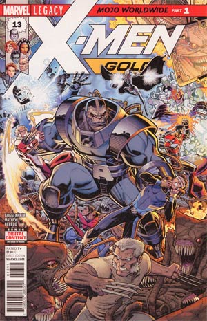 X-Men Gold #13 Cover A Regular Arthur Adams Connecting A Cover (Mojo Worldwide Part 1)(Marvel Legacy Tie-In)