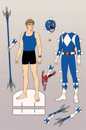 Sabans Go Go Power Rangers #4 Cover C Variant Audrey Mok Paper Doll Cover