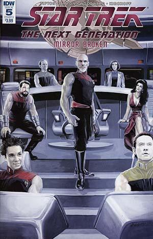 Star Trek The Next Generation Mirror Broken #5 Cover A Regular JK Woodward Cover